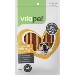 Photo of Vitapet Jerhigh Dog Snack Bacon Flavour 100g