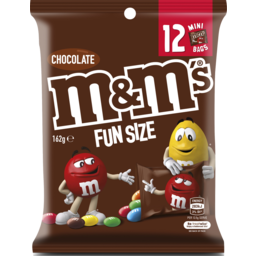 Photo of M&Ms Milk Chocolate Funsize 12x162g