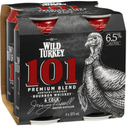 Photo of Wild Turkey 101 & Cola Cans