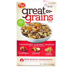 Photo of Great Grains Cereal Cranberry Almond Crunch