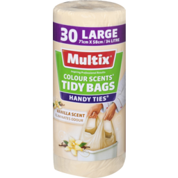 Photo of Multix Colour Scents Tidy Bags Vanilla Large 30