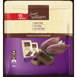 Photo of Sweet Willam Gluten Free & Dairy Free Sharepack Chocolate Minibars 15 Pack