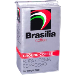 Photo of Brasilia Ground Coffee Supa Crema Espresso 250gm