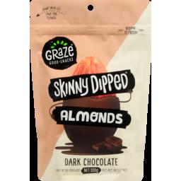 Photo of Graze Skinny Dipped Dark Chocolate Almonds 300g