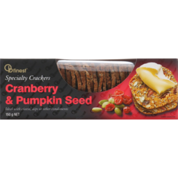 Photo of OB Finest Crackers Cranberry & Pumpkin Seed Crackers 150g
