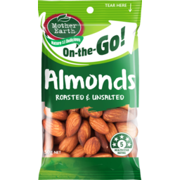 Photo of Mother Earth Roasted Unsalted Almonds 50g