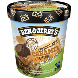 Photo of Ben And Jerry's Ben & Jerry`S Non-Dairy Frozen Dessert Chocolate Caramel Cluster 458ml