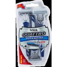 Photo of Schick Quattro Titanium Men Disposable Razors 3pk