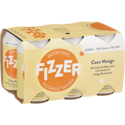Photo of Moon Dog Fizzer Alcoholic Seltzer Coco Mango Can