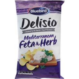 Photo of Bluebird Delisio Potato Chips Feta & Herb 140g