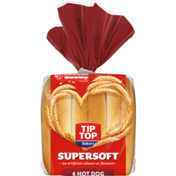Photo of Supersoft Hot Dog Roll Tip-Top 6 Pack