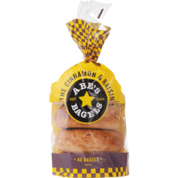 Photo of Abes Bagels Cinnamon Raisin 4 Pack
