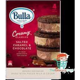 Photo of Bulla Creamy Classics  Sandwich Crml Choc 4pk