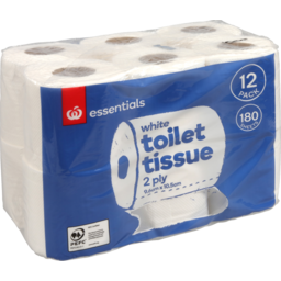Photo of Essentials Toilet Paper White 12 Pack
