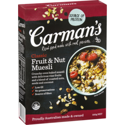 Photo of Carmans Classic Fruit & Nut Muesli 500g