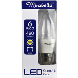 Photo of Mirabella Led Candle Bayonet Cap Clear 6w