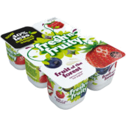 Photo of Fresh'n Fruity 40% Less Sugar Yoghurt Fruit Forest 6 Pack