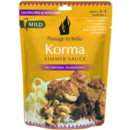 Photo of Passage To India Korma Simmer Sauce 375gm