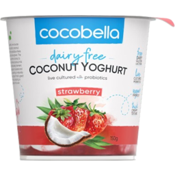 Photo of Cocobella Dairy Free Strawberry Coconut Yoghurt 150g