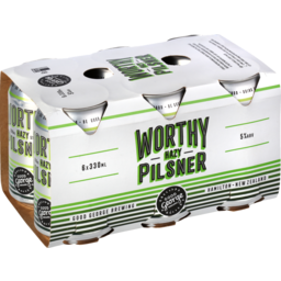 Photo of Good George Brewing Beer Worthy Hazy Pilsner 6 Pack X 330ml