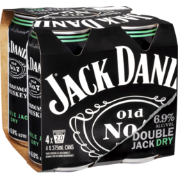 Photo of Jack Daniel's Double Jack & Dry Can 4 Pack