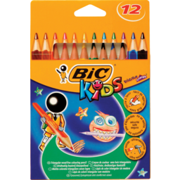 Photo of Bic Kids Evolution Triangle Colouring Pencils 12s 12