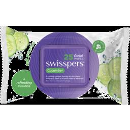 Photo of Swisspers Facial Wipe Cucumber 25s