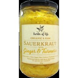 Photo of Herbs of Life  Sauerkraut – Ginger & Turmeric