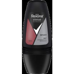 Photo of Rexona For Men Clinical Protection Antiperspirant Roll On Deodorant Sport For 3x Stronger Protection(Versus Regular Antiperspirant Deodorant) 50ml