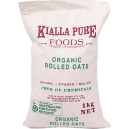 Photo of Kialla Organic Rolled Oats 1kg