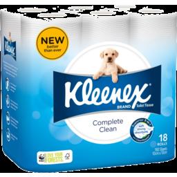 Photo of Kleenex Complete Clean Toilet Tissue, 18 Rolls