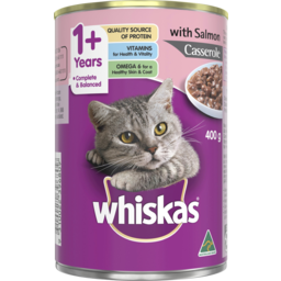 Photo of Whiskas Adult Wet Cat Food Salmon Casserole 400g Can