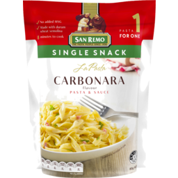 Photo of San Remo Single Serve Carbonara 80gm