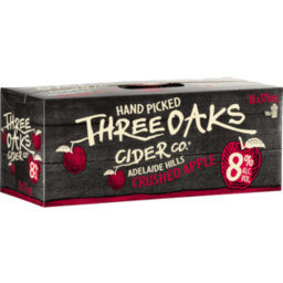 Photo of Three Oaks 8% Apple Cider 10 Pack