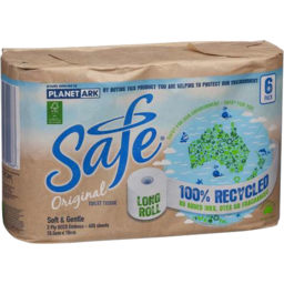Photo of Safe Original Long Roll 400 Sheet 2ply Toilet Tissue 6pk