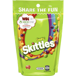 Photo of Skittles Sours Lollies Medium Bag 110g