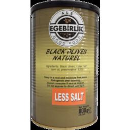 Photo of EGEBIRLIK OLIVES BLK L/SALT 6x800G