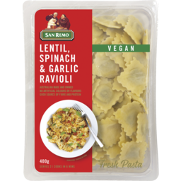 Photo of San Remo Lentil Spinach & Garlic Ravioli 400g