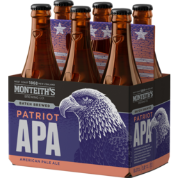 Photo of Monteith's Brewers Series Patriot APA 330ml Bottles 6 Pack