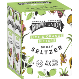 Photo of Brookvale Union Boozy Seltzer Lime & Orange Bitters 330ml 4 Pack