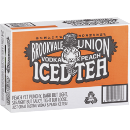 Photo of Brookvale Vodka & Peach Ice Tea Can