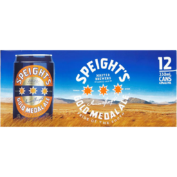 Photo of Speights Gold Medal Ale Cans 330ml 12 Pack