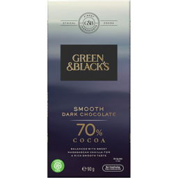 Photo of Green & Black's Smooth Dark Chocolate 70% Cocoa 90g