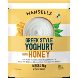 Photo of Hansells Yoghurt Thick and Creamy Greek Honey 220g