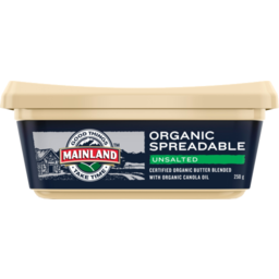 Photo of Mainland Spreadable Unsalted Butter 250g