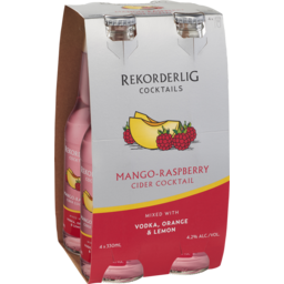 Photo of Rekorderlig Mango-Raspberry Cider Cocktail With Vodka Stubbies