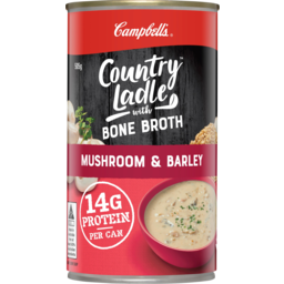 Photo of Campbells Country Ladle With Bone Broth Mushroom & Barley Soup 505g