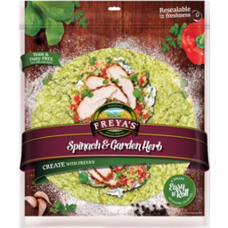 Photo of Freyas Wraps Spinach & Garden Herb 6 Pack 330g