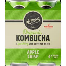 Photo of Remedy Organic Kombucha Apple Crisp 4 Pack X 250ml