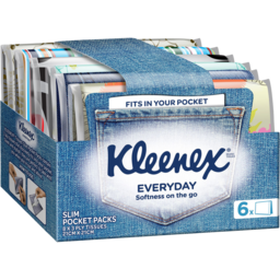 Photo of Kleenex Everyday Wallet Pack Facial Tissues, 6 Pack X 8 Sheets